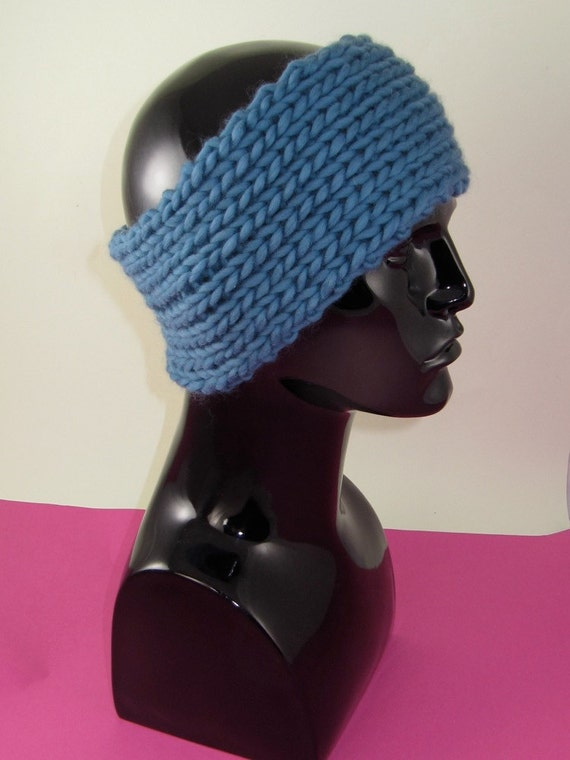 Ribbed Headband Knitting Pattern : 40% OFF SALE Instant Digital File pdf download knitting pattern - Super Chunk...