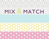 Etsy Shop Banner, simple cutomized design. Geometric, fun banners.