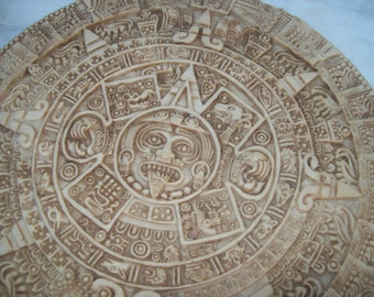 Vintage Aztec Calender Wall Hanging