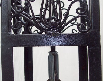 Vintage Mexican Wrought Iron Light Fixture