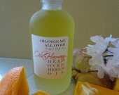 Body Oil- Orange Me All Over (Perfect Citrus Blend) -   Frosted 4 oz. Glass Bottle