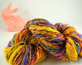 "Handspun 100 percent Merino wool yarn ""Easter"""
