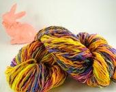 "Handspun 100 percent Merino wool yarn ""Easter"""