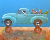 "189 Holden Ute – print 14x14cm/5.5x5.5"""