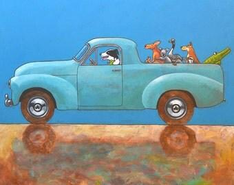 "189 Holden Ute - print 21x21cm/8.5x8.5"""
