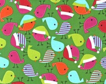 Robert Kaufman Fabric Jingle 2 Birds Bright Ann Kelle