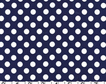 Michael Miller Fabric Ta Dot Indigo Polka Dots