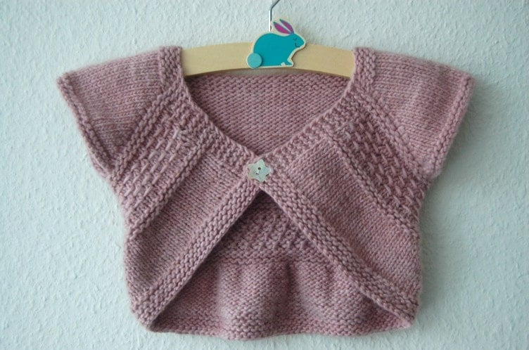 Free Knitting Pattern For Girls Bolero : Entrechat Baby and Child Shrug PDF knitting pattern / Fiche
