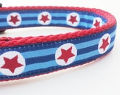Super Mutt - Dog Collar / Handmade / Pet Accessories / Adjustable / Superhero / Comic / Pet Lover / Captain America