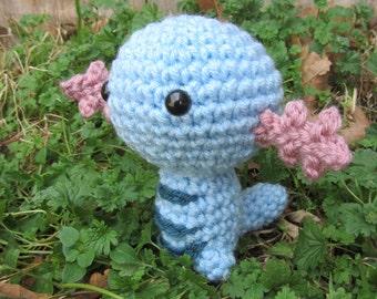 READY TO SHIP - Crochet - Chibi Pokemon Amigurumi - Wooper. Pokemon Plush. Pokemon Go. Cosplay. Anime. Gift. Video Game. Corlista. Korlista.