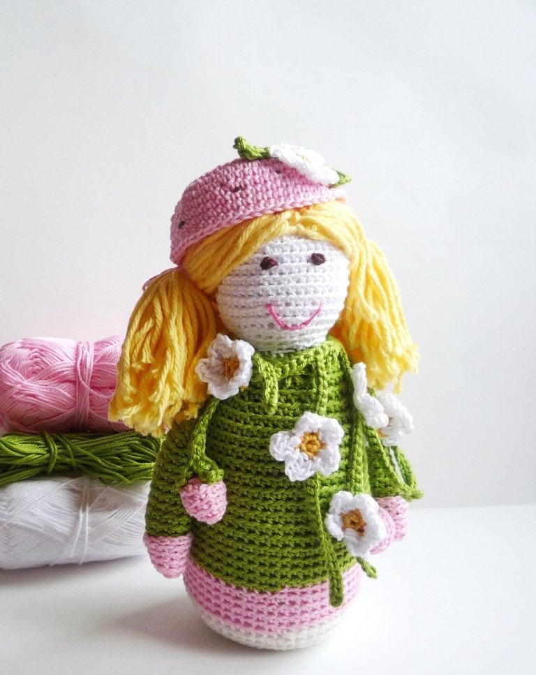 Amigurumi Strawberry Doll Pattern : Crochet Doll Amigurumi Doll Strawberry Fairy Crochet Toy