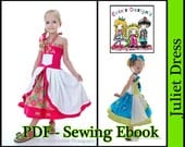 Custom Boutique PDF Sewing Ebook....Juliet Dress Pattern...Sizes 6/12m-6 years....Princess Style