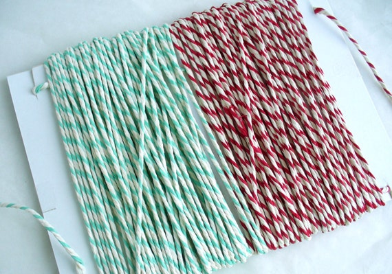Baker's Twine 2 x 15 m Red and  Green