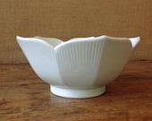 japanese lotus bowl, vintage, white ceramic bowl, decorative bowl, modern wedding table decor, mothers day gift
