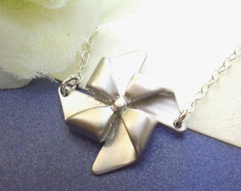 Pinwheel Necklace On A Sterling Silver Chain
