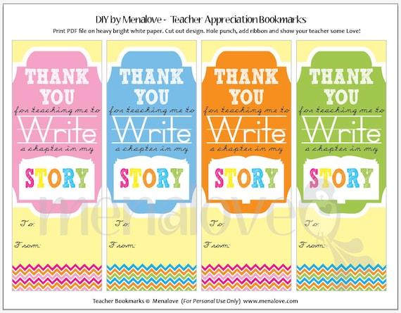 Teacher Appreciation Diy Bookmarks
