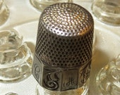 Vintage Simons Sterling Silver Thimble Size 10 Hand Sewing Quilting Engraved  C A Initials
