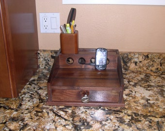 Cell Phone Charging Station-Walnut