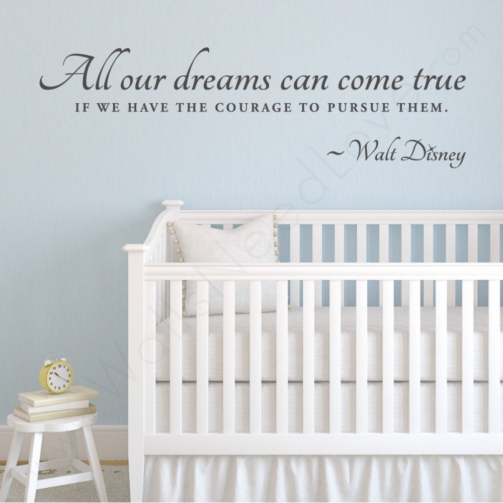 walt disney follow your dreams wall quote 36 wide