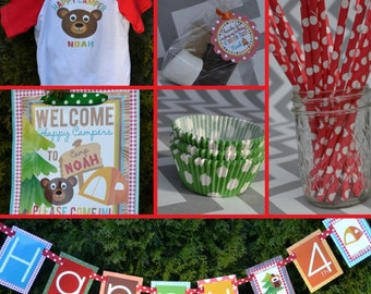 Camping Birthday Party Decorations Fully Assembled