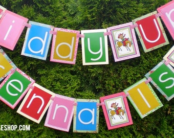 Cowgirl Birthday Party Banner Fully Assembled Decorations