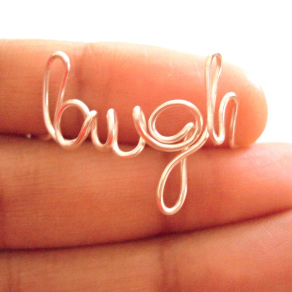 Custom Word Necklace or Ring or Bracelet Silver Wire Letters Initial Name Personalize Mother Daughter Sister Friend Jewelry Handmade on Etsy