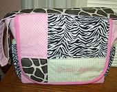 Custom Diaper Bag PERSONALIZED - You choose the fabric