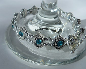 Silver and Turquoise Toggle Bracelet