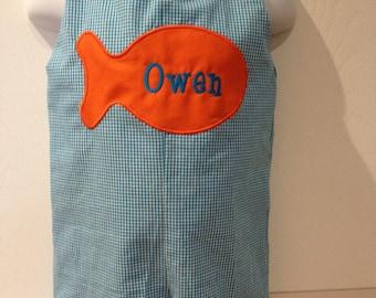 Adorable Fish Jon Jon Size 3mo to 4T