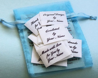 Qty 36 - 1 x 1 1/2 Inch Sew in Cotton Clothing Labels