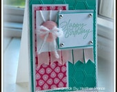 Happy Birthday One of A Kind Hand Crafted Birthday Card