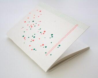 Letterpress Notebook, Mini Journal, Jotter - Abstract Dots