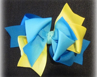 Sea Splash M2M m2mg Hair Bow for Gymboree Girls Triple Layers and Loops Hairbow