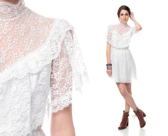 Lacy Clothing For Women Boho White Lace Dress s Mini Boho