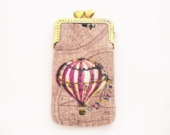 iPhone sleeve gadget case Hot Air Balloon Iphone case purple  ( iPhone 6s, iPhone 6s Plus,Samsung Galaxy S6)