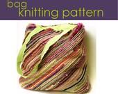 Bias Bag Knitting Pattern, Knitted Bag, Knitting Pattern PDF