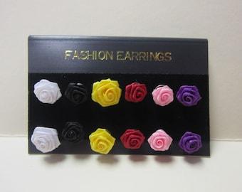 Vintage Rose Earrings DEADSTOCK