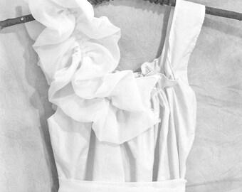Chiffon Dress Ruffle Bridal Shower Dinner Unique Wedding Custom Cotton Womens Rehearsal Dinner