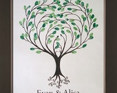 Heartsong Wedding Thumbprint Tree for up to 100 Guests
