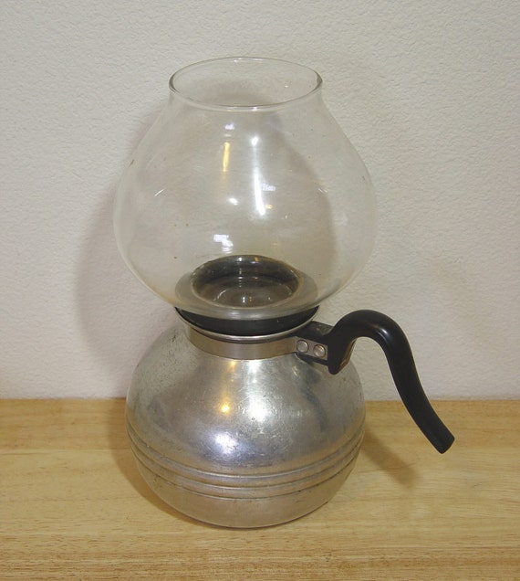 Vintage Abco Coffee Maker Pot with Glass Pyrex UW 8 Top