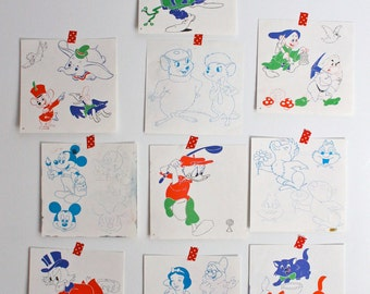 Vintage 80's Disney Drawing kit - Dessinons et Effaçons
