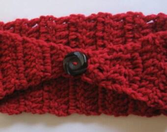 Crochet Head Band, Red Earwarmer, WinterFashion, CROCHET Wool band, Hair Accessories, HairBand, Women Earwarmer, Red Woolen Hairband, Teens