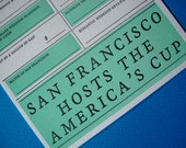 San Francisco Wedding Card - 2013 - Lettepress
