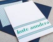 Personalized Stationery / Custom Stationary Set- Dotted Line