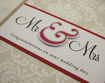 MR & MRS Congratulations On Your Wedding Day Greeting Card
