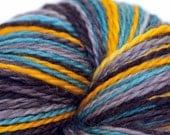 Electric Lights - Self Striping Sock Yarn - Wednesday Base