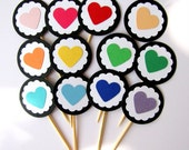 Rainbow Cupcake toppers (12)
