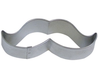 Mustache Cookie cutter 3.75 inches,  cookie cutter mustache, moustache cookie cutter