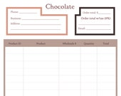 Price Sheet or Order form template for the Chocolate line sheet - Add a page