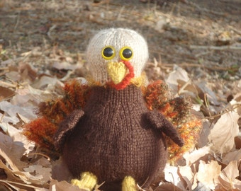 Tom Turkey Knit Flat PDF knitting pattern